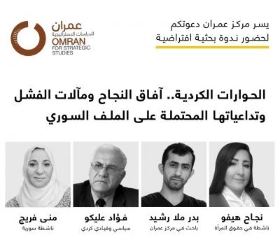 ندوة بحثية | الحوارات الكُردية.. آفاق النجاح ومآلات الفشل وتداعياتها المحتملة على الملف السوري