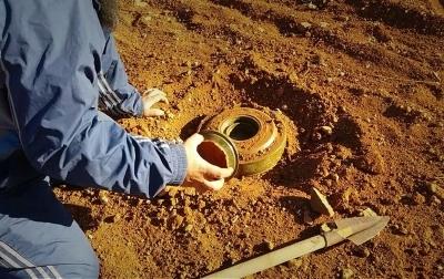 إزالة الألغام كمحدد في نجاح التعافي المبكر في منطقتي درع الفرات وعفرين